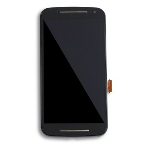 LCD Frame Assembly for Moto G2 (XT1064) (Authorized OEM) - Black