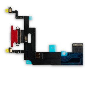 """Charging Port Flex Cable for iPhone XR (6.1"""") - Red"""