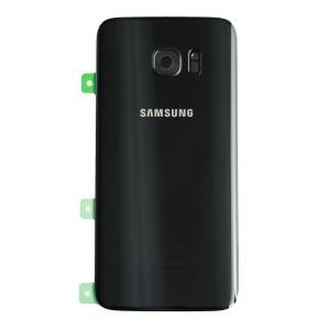 Back Glass for Samsung Galaxy S7 Edge (w/ Adhesive) (PrimeParts - OEM) - Black Sapphire