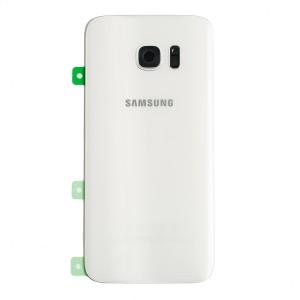 Back Glass for Samsung Galaxy S7 Edge (w/ Adhesive) (PrimeParts - OEM) - White