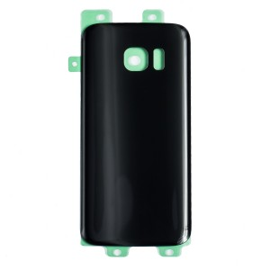 Back Glass for Samsung Galaxy S7 (w/ Adhesive) (Generic) - Black Sapphire