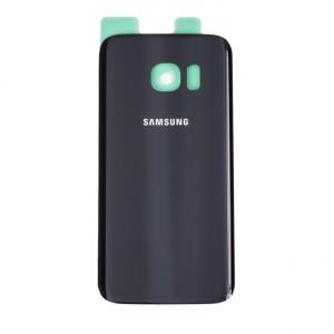Back Glass for Samsung Galaxy S7 (w/ Adhesive) (PrimeParts - OEM) - Black Sapphire