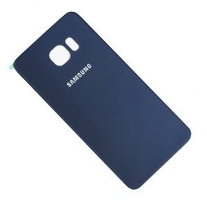 Back Glass (w/ Adhesive) for Samsung Galaxy S6 Edge Plus (PrimeParts - OEM) - Black Sapphire