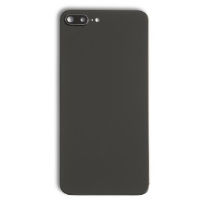 """Back Glass & Rear Camera Lens Set for iPhone 8 Plus (5.5"""") (No Logo) - Space Gray"""