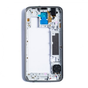 Back Housing for Samsung Galaxy S5 (G900P / G900V) - White / Silver