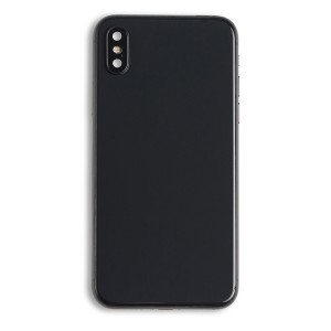 Back Housing (w/ Back Glass, Power and Volume Flex, Wireless Charging Chip and Flex, Buttons and Rear Camera Lens) for iPhone X (Generic) - Space Gray