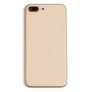 Back Housing w/ Back Glass for iPhone 8 Plus (Generic) - Gold