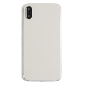 Back Housing w/ Back Glass for iPhone X (Generic) - Silver