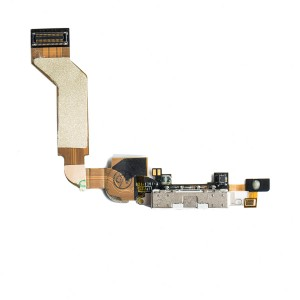 Charging Port Flex Cable for iPhone 4S - White