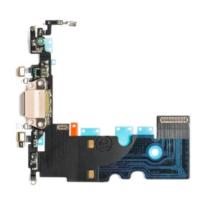 "Charging Port Headphone Jack Flex Cable for iPhone 8 (4.7"") - Gold"