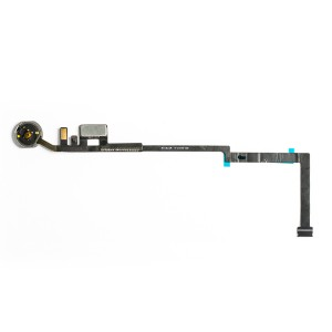 Home Button Flex Cable (w/ Fingerprint Scanner) for iPad 5 (2017) - White (Fingerprint scanner is aftermarket - biometrics may not work)