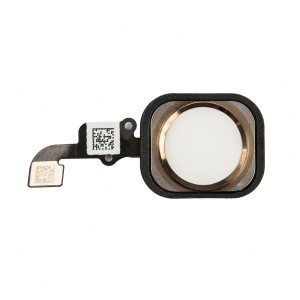 "Home Button Flex Cable (w/ Fingerprint Scanner) for iPhone 6 Plus (5.5"") - Gold (Fingerprint scanner is aftermarket - biometrics may not work)"
