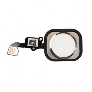 Home Button Flex Cable for iPhone 6 Plus - White (No Touch ID)