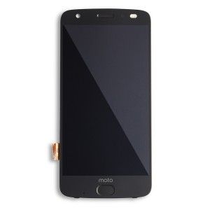OLED Assembly with Fingerprint Scanner for Moto Z2 Force (XT1789) (Authorized OEM) - Black