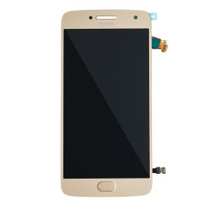 LCD Assembly with Fingerprint Scanner for Moto G5 Plus (XT1687) (Authorized OEM) - Gold