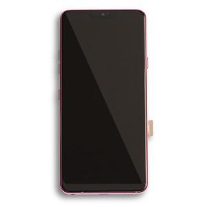 LCD & Digitizer Frame Assembly for LG G7 ThinQ (G710) (Genuine OEM) - Raspberry Rose