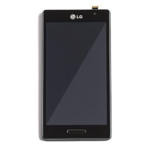 LCD & Digitizer Frame Assembly for LG Optimus L9 (P760) - Black