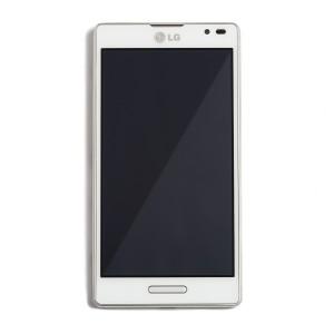 LCD & Digitizer Frame Assembly for LG Optimus L9 (P760) - White