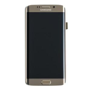 LCD & Digitizer Frame Assembly for Samsung Galaxy S6 Edge (G925V / G925P) (PrimeParts - OEM) - Gold Platinum