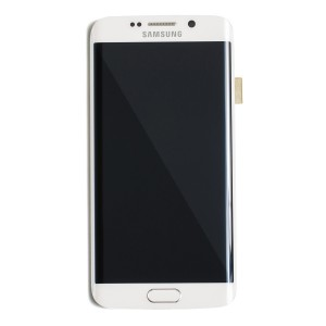 LCD & Digitizer Frame Assembly for Samsung Galaxy S6 Edge (G925V / G925P) (PrimeParts - OEM) - White