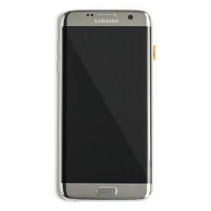 LCD & Digitizer Frame Assembly for Samsung Galaxy S7 Edge (PrimeParts - OEM) - Silver