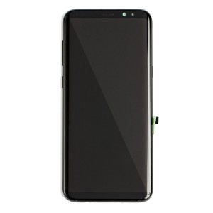 OLED Frame Assembly for Galaxy S8+ (OEM - Service Pack) - Midnight Black
