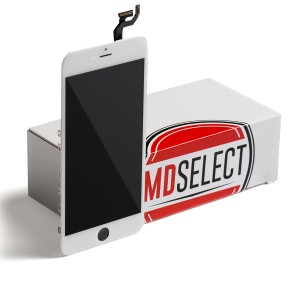"LCD & Digitizer Frame Assembly for iPhone 6S Plus (5.5"") (MDSelect) - White (Bulk pricing available for sets of 5 screens)"