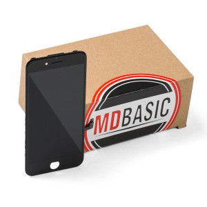 "LCD & Digitizer Frame Assembly for iPhone 7 (4.7"") (mdBasic) - Black (Bulk pricing available for sets of 5 screens)"