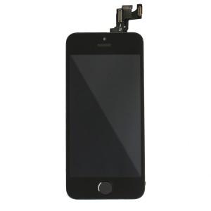 LCD & Digitizer Frame Assembly (w/ Front Cam & Prox. Sensor & Ear Speaker) for iPhone SE (MDSelect) - Black