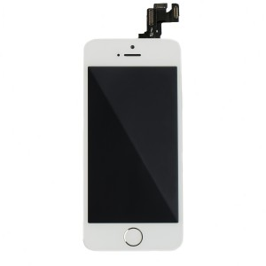 LCD & Digitizer Frame Assembly (w/ Front Cam & Prox. Sensor & Ear Speaker) for iPhone SE (MDSelect) - White