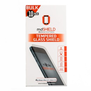 "Pack of 10 Tempered Glass Shield (0.33mm) for iPhone 6 Plus (5.5"") (Bulk MD Packaging)"