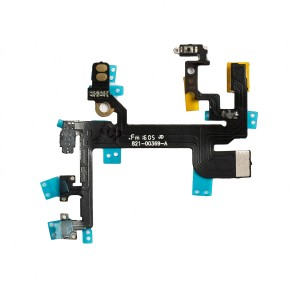 Power and Volume Flex Cable with Mounting Brackets for iPhone SE