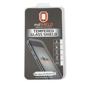 Tempered Glass Shield (0.33mm) for iPhone 5 / iPhone 5C / iPhone 5S / iPhone SE (MD Packaging) (Anti-UV)