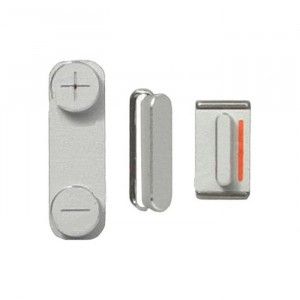 Power & Volume & Mute Button Set for iPhone 5 - White