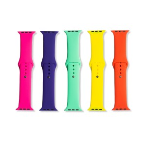 Silicone Apple Watch Band Set D (42mm/44mm) - 5 Pack