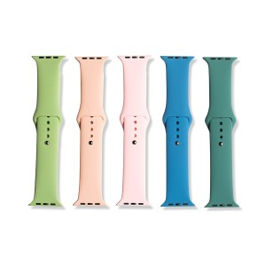 Silicone Apple Watch Band Set E (42mm/44mm) - 5 Pack