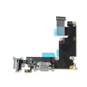 Charging Port Flex Cable for iPhone 6 Plus - Dark Gray