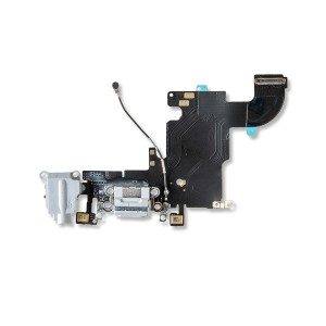 Charging Port Flex Cable for iPhone 6S - Light Gray