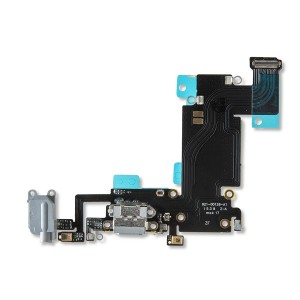 Charging Port Flex Cable for iPhone 6S Plus - Dark Gray