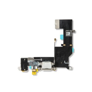 Charging Port Flex Cable for iPhone SE - White