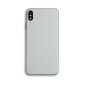 Back Housing with Small Parts for iPhone XS Max (GENERIC) - Silver