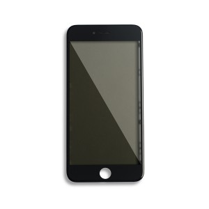 Glass with Frame / OCA / Polarizer Pre-Installed for iPhone 6 Plus - Black