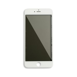 Glass with Frame / OCA / Polarizer Pre-Installed for iPhone 6 Plus - White