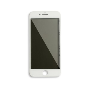 Glass with Frame / OCA / Polarizer Pre-Installed for iPhone 8 - White