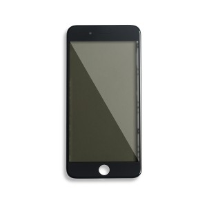 Glass with Frame / OCA / Polarizer Pre-Installed for iPhone 8 Plus - Black