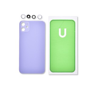 Back Glass and Rear Camera Lens Set for iPhone 11 (Generic) - Purple