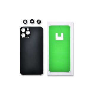 Back Glass and Rear Camera Lens Set for iPhone 11 Pro (Generic) - Midnight Green