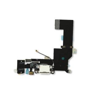 Charging Port Flex Cable for iPhone 5S (SELECT) - White