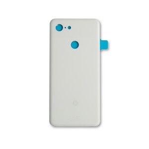 Back Glass with Adhesive for Google Pixel 3 - White