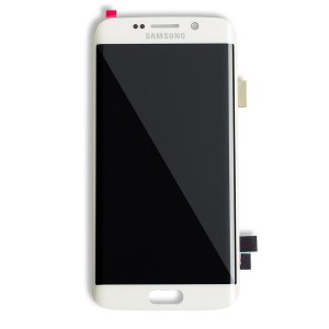 OLED Display Assembly for Galaxy S6 Edge (OEM - Refurbished) - White Pearl